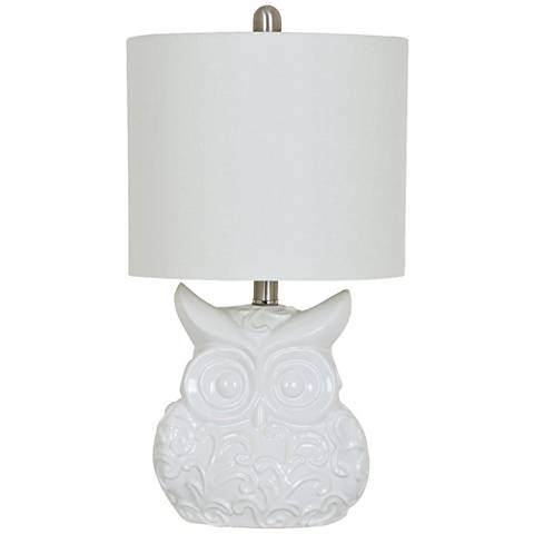 Crestview Collection Raleigh White Ceramic Table Lamp
