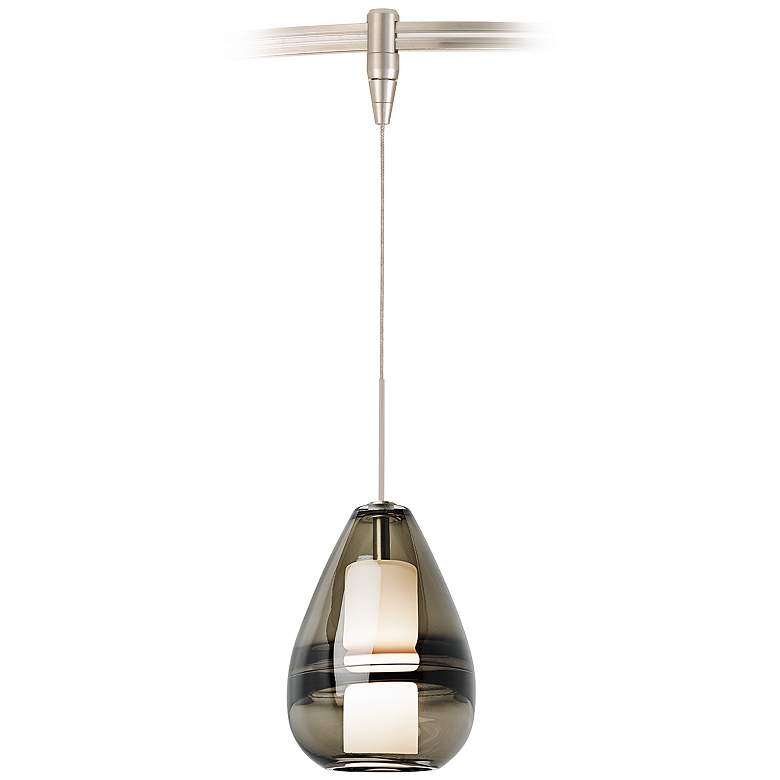 "Mini Ella 5"" Wide Satin Nickel Monorail Mini Pendant Light"
