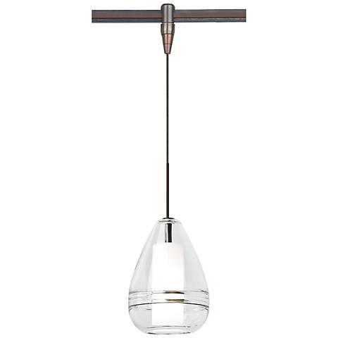 "Mini Ella 5""W Antique Bronze LED Monorail Mini Pendant"