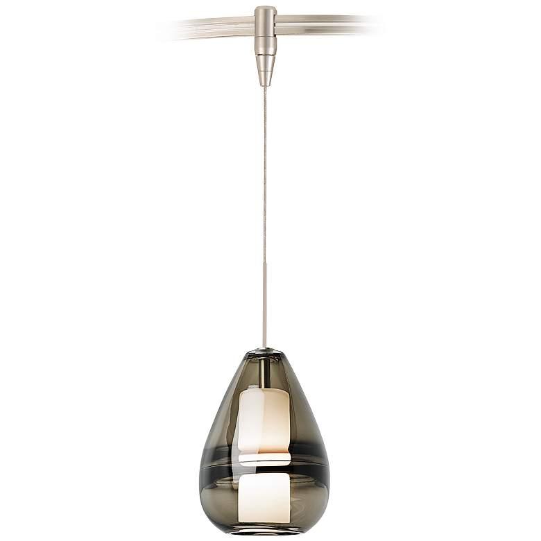 "Mini Ella 5"" Wide Smoke Glass LED Monorail Mini Pendant"