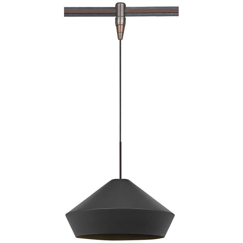 "Brummel 10 1/2""W Antique Bronze LED Monorail Mini Pendant"