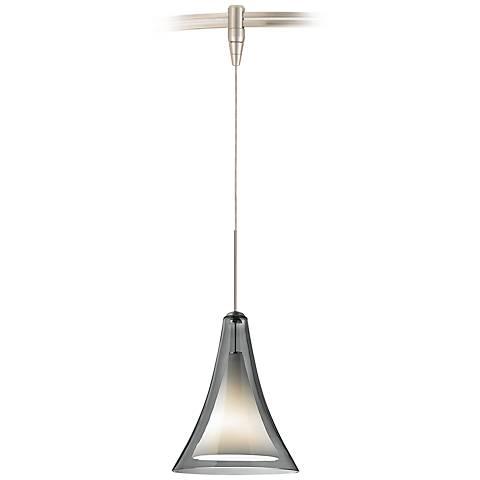 "Melrose II 7 1/2""W Satin Nickel LED Monorail Mini Pendant"