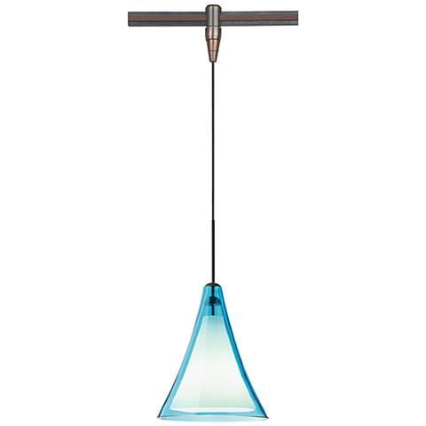"Melrose II 7 1/2""W Bronze LED Monorail Mini Pendant"