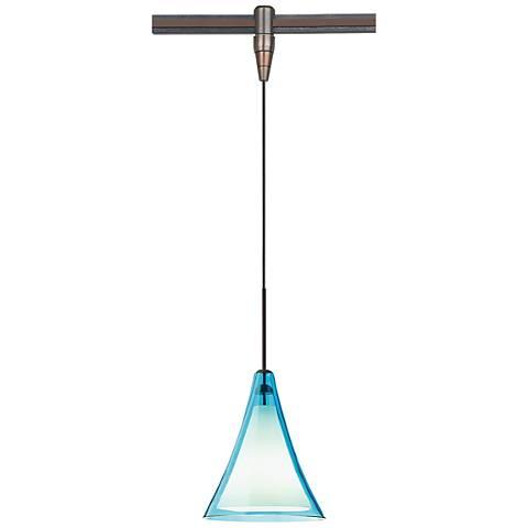 """Mini Melrose II 5""""W Bronze LED Monorail Mini Pendant"""