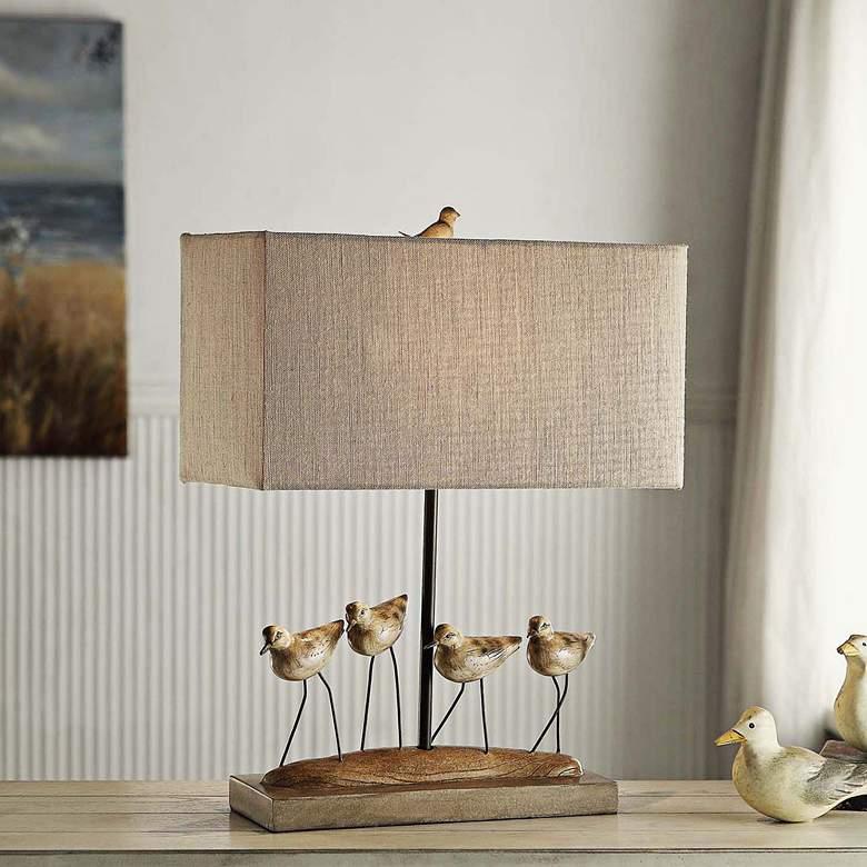 Crestview Collection Shore Birds Coastal Bird Table Lamp