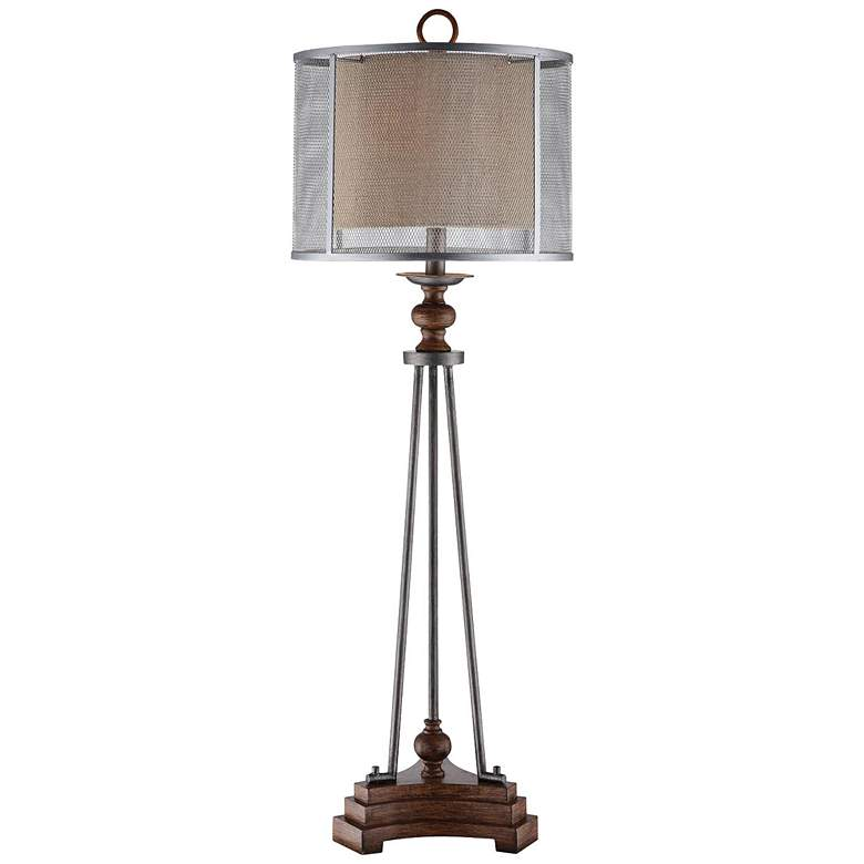 Crestview Collection Kenwood Iron and Wood Table Lamp
