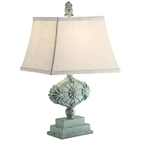 Crestview Collection Kaleen Antique Blue Table Lamp