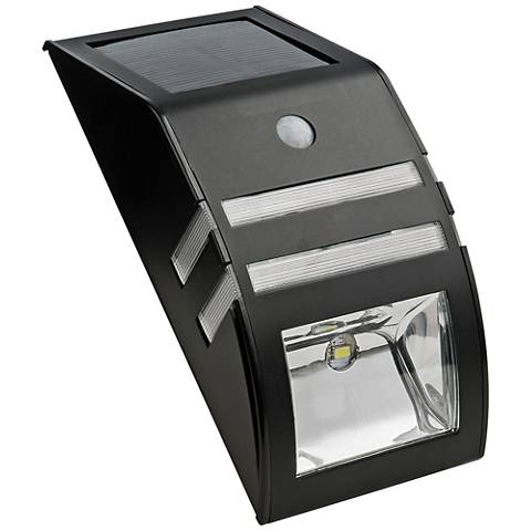 """Stratmore 6 3/4""""H Stainless Steel Solar LED Security Light"""