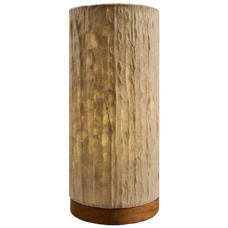 """Eangee 13""""H Paper Cylinder Lines Hand-Made Small Table"""