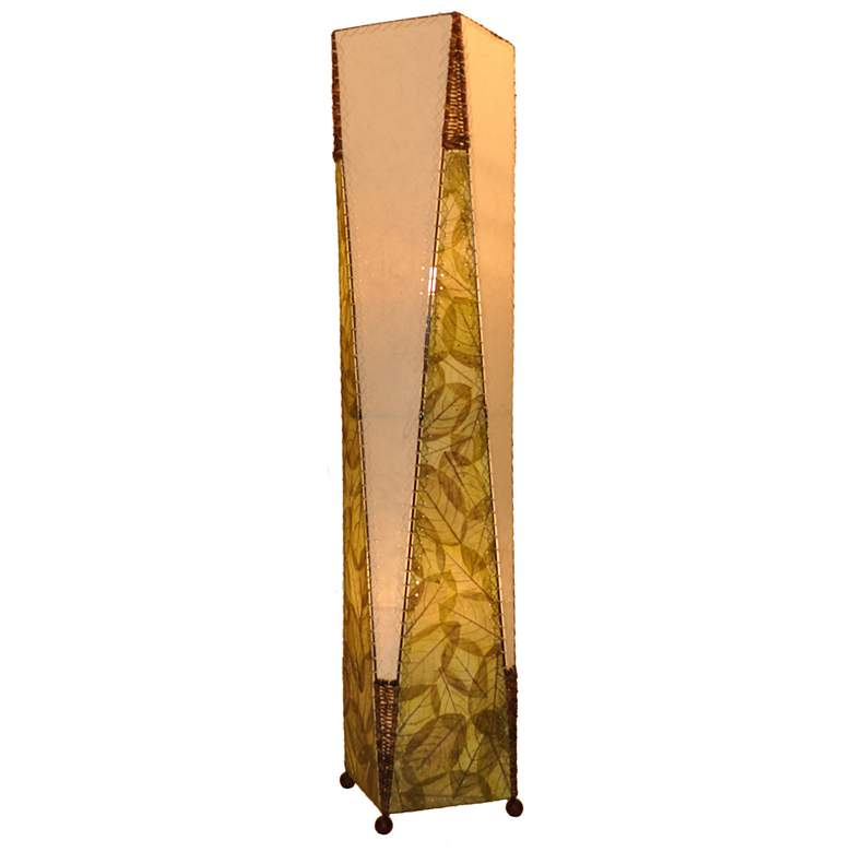 Eangee Trapezoid Green Hand-Made Paper Large Floor Lamp