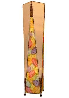 Eangee floor lamps lamps plus eangee trapezoid multicolor hand made large floor lamp aloadofball Images