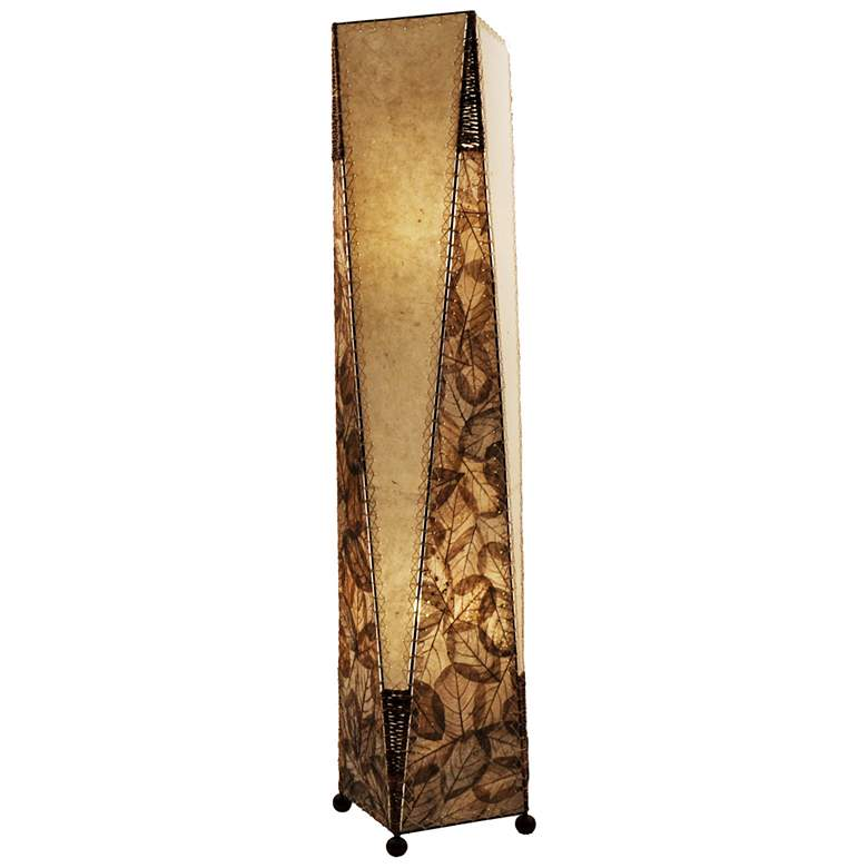 Eangee Trapezoid Natural Hand-Made Paper Large Floor Lamp