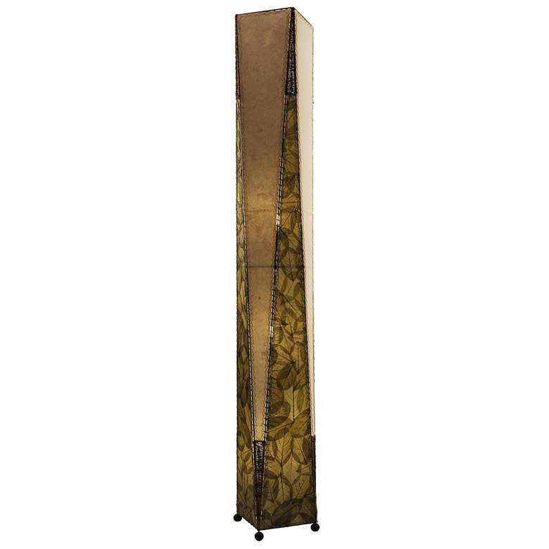Eangee Trapezoid Green Hand-Made Paper Giant Floor Lamp