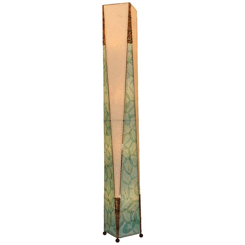 Eangee Trapezoid Blue Hand-Made Paper Giant Floor Lamp