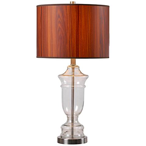 Kenroy Home Bray Clear Glass Table Lamp