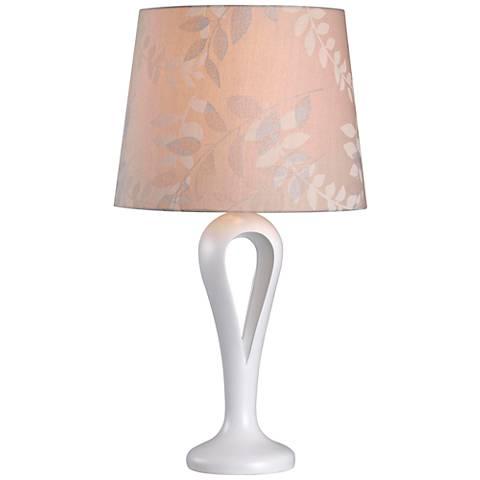 Kenroy Home Parfume White Table Lamp