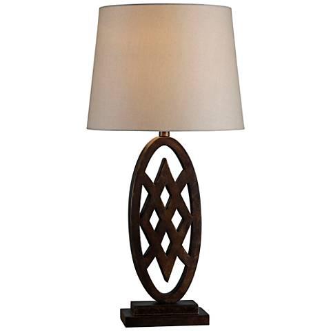 Kenroy Home Signet Golden Flecked Bronze Table Lamp