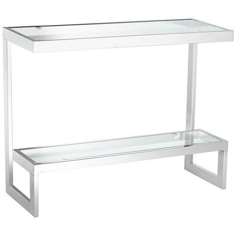 Rico Chrome and Glass 1-Shelf Console Table