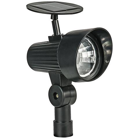 "Brent 12 1/2"" High Black Solar LED Spot Light"