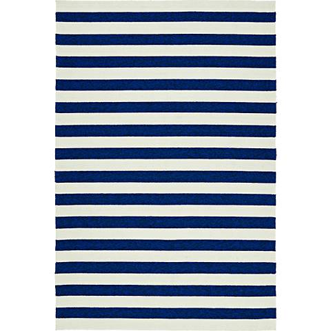 Kaleen Escape ESC03-22 Navy and White Striped Area Rug