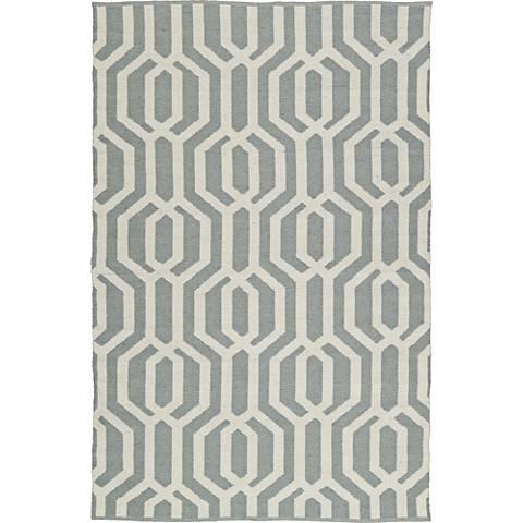 Kaleen Brisa BRI08-75A Gray and White Area Rug