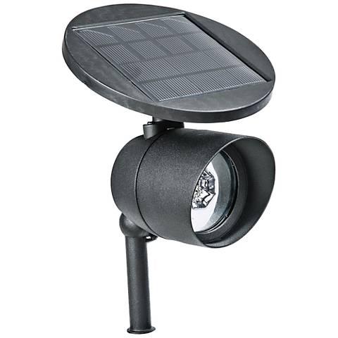 "Marlon 13 1/2"" High Black Aluminum Solar LED Spot Light"