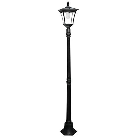 "Garison 80"" High Black Solar LED Street Light"