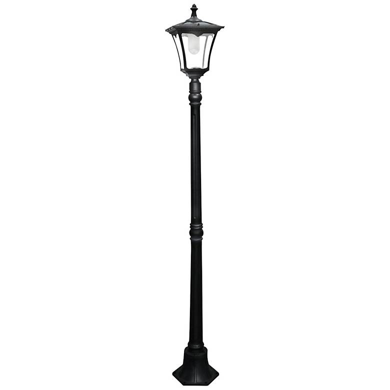 """Garison 80"""" High Black Solar LED Street Light"""