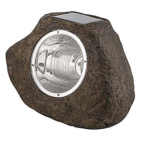 "Stone 8 1/4"" Wide Solar LED Rock Spot Light"