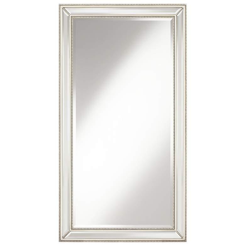 """Roseau Palais Silver 32 1/2"""" x 59 1/2"""" Beaded Mirror"""