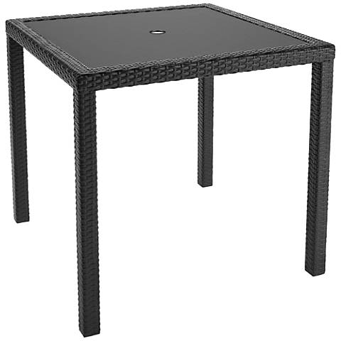 Park Terrace Charcoal Weave Square Patio Dining Table