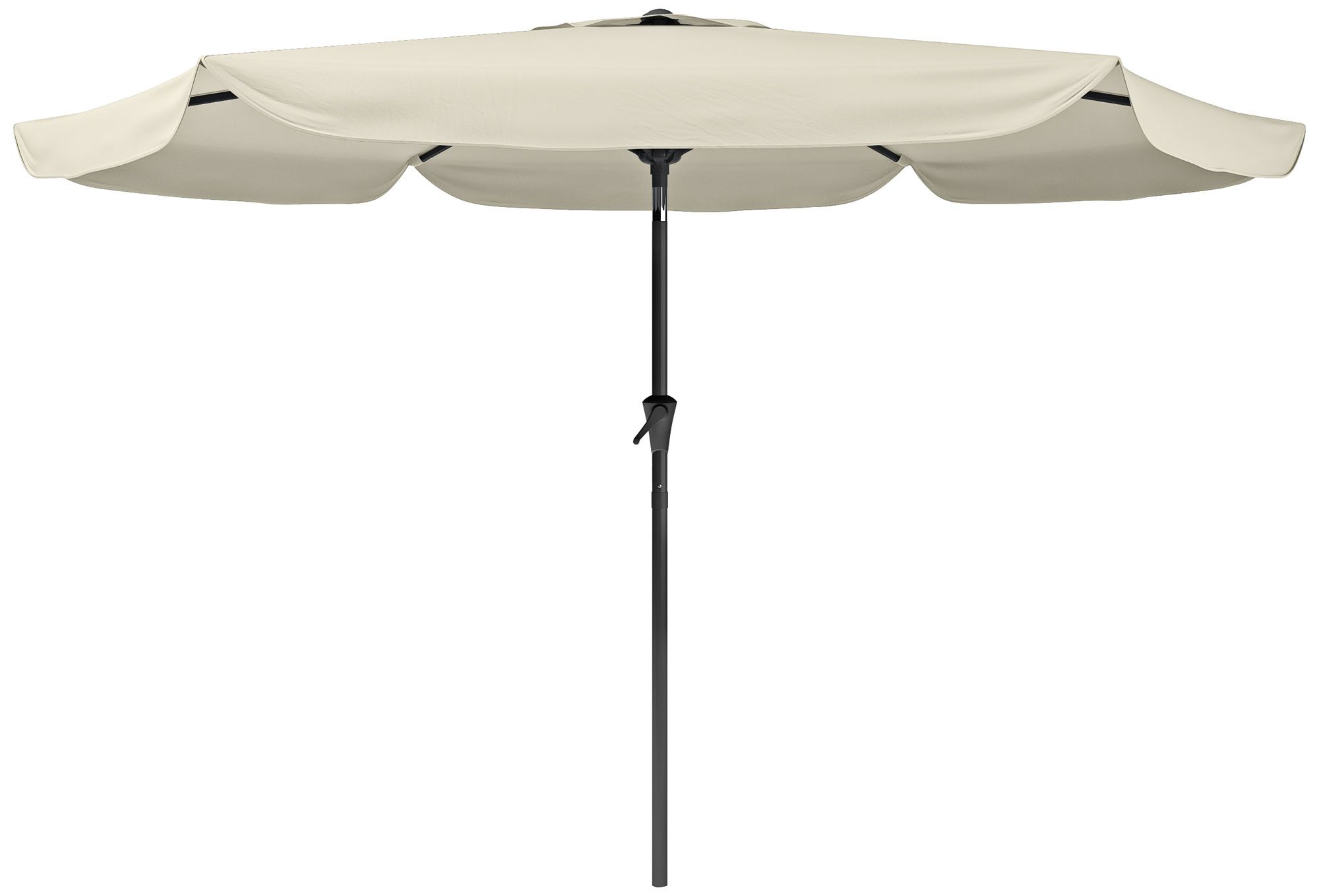 Hoba 9 3/4 Foot Warm White Fabric Tilting Patio Umbrella