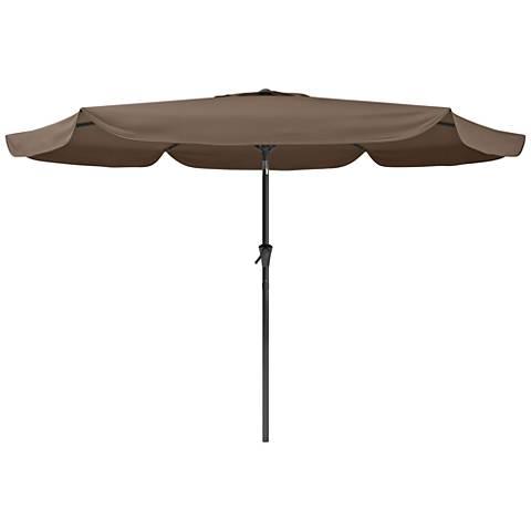 Hoba 9 3/4-Foot Sandy Brown Fabric Tilting Patio Umbrella