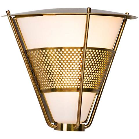 "Rexford 8 1/2"" High Historic Brass LED Outdoor Wall Light"