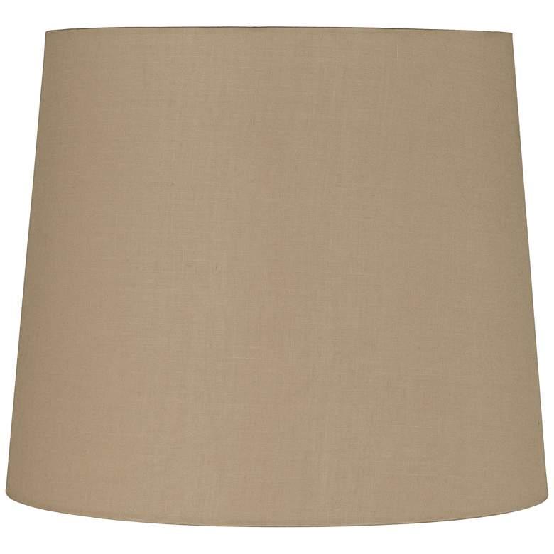 Light Beige Linen Tall Hardback Drum Shade 12x14x12 (Spider)