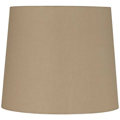 Light Beige Linen Tall Hardback Drum Shade 12x14x12 (Spider)