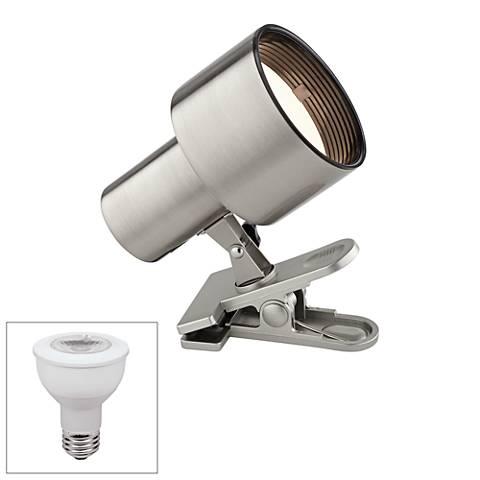 Satin Nickel Mini Accent LED Clip Light