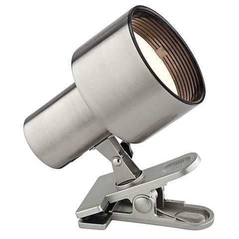 Satin Nickel Mini Accent Clip Light