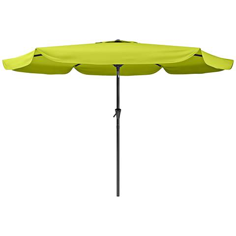 Hoba 9 3/4-Foot Lime Green Fabric Tilting Patio Umbrella