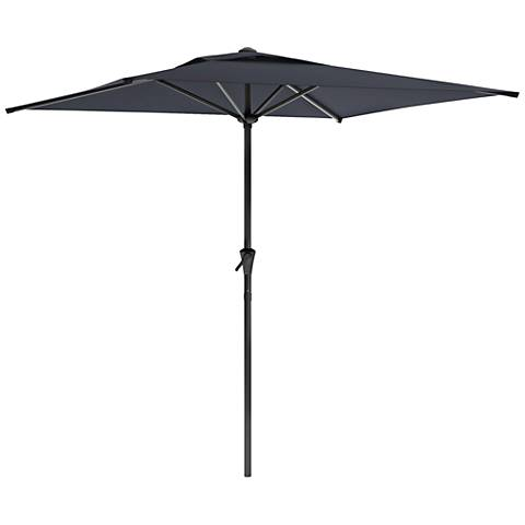 Shala 9-Foot Black Fabric Tilting Square Patio Umbrella