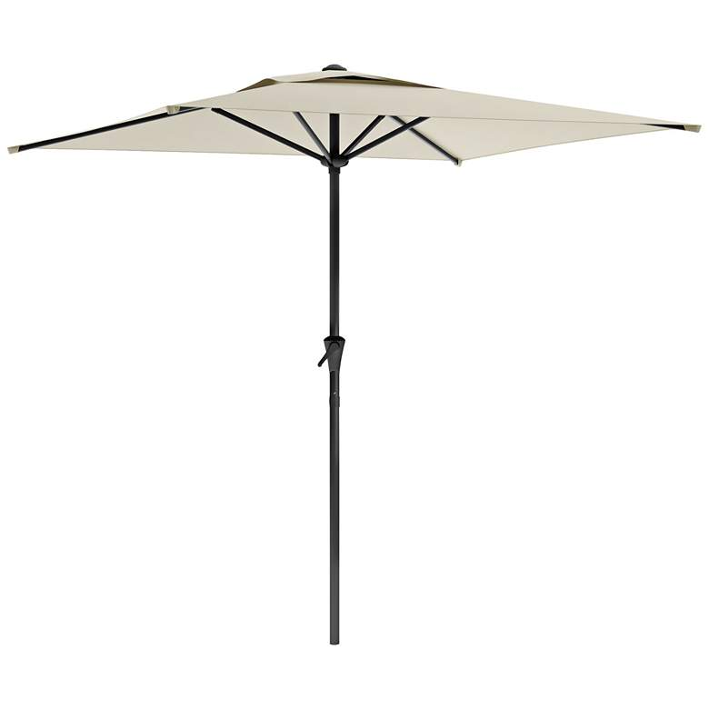 Shala 9-Foot Warm White Tilting Square Patio Umbrella