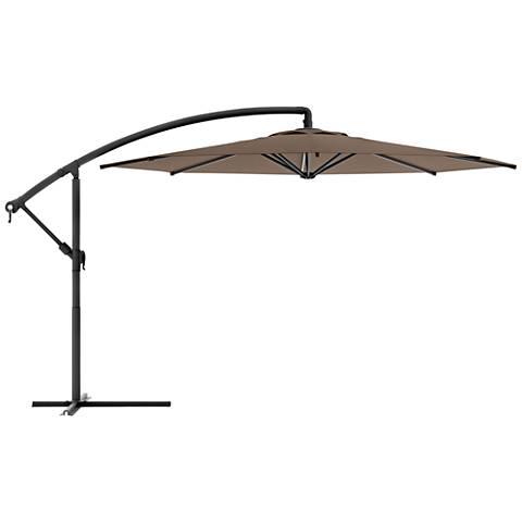Meco 9 3/4-Foot Sandy Brown Fabric Offset Patio Umbrella