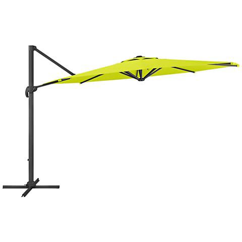 Tava 11 1/3-Foot Lime Green Deluxe Offset Patio Umbrella