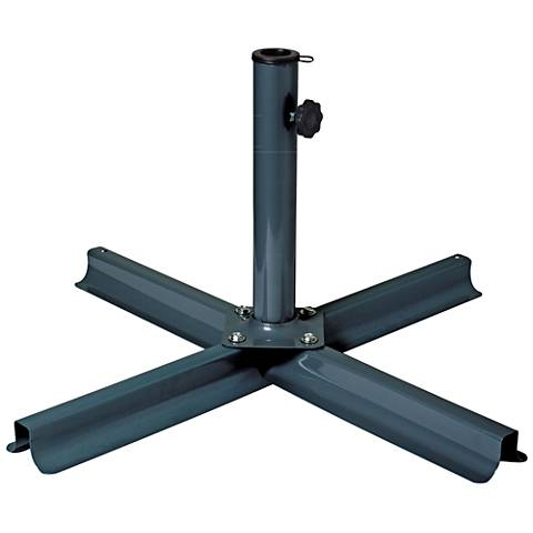Odyssey 8 Lb. Gray Steel Stand-Up Patio Umbrella Stand