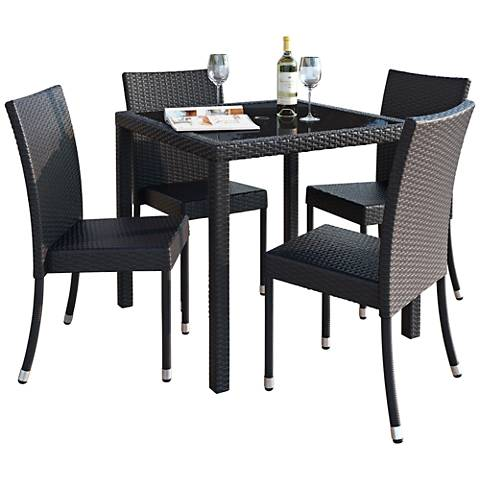 Park Terrace Charcoal Square 5-Piece Patio Dining Set