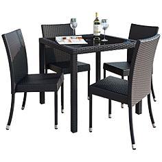 Park Terrace Charcoal Square 5-Piece Patio Dining Set