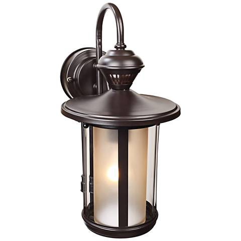 "Salem Bronze 16 1/4""H Motion Sensor Outdoor Wall Light"