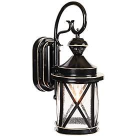 Marietta Black 18 1 4 H Motion Sensor Outdoor Wall Light