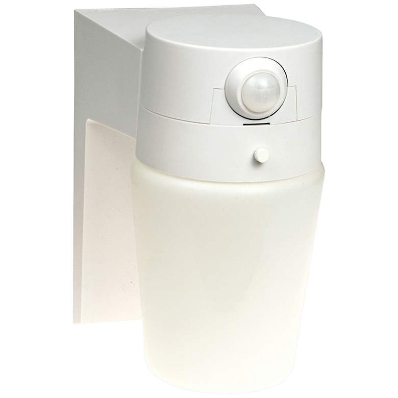 "Entryway White 8 1/4"" High Motion Sensor Security"