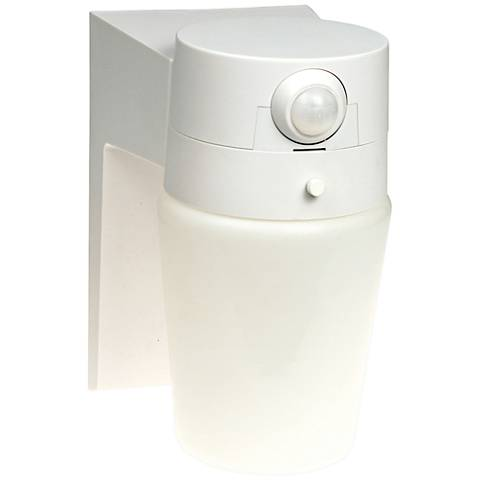 "Entryway White 8 1/4"" High Motion Sensor Security Light"
